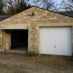 Before - two single garage doors